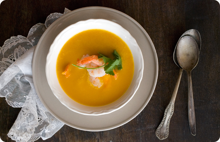 Butternut Squash Soup With Star Anise And Ginger Shrimp Recipes ...
