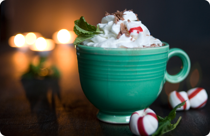 Peppermint Cosmos and Peppermint Hot Cocoa