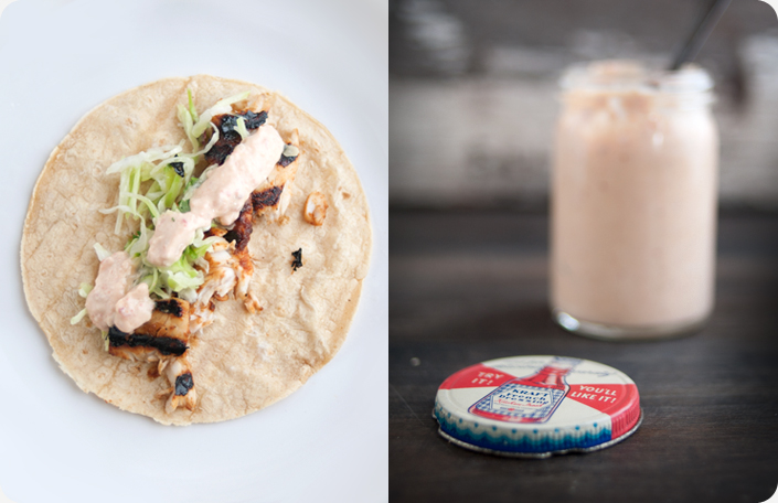 Some kitchen stories fish tacos with chipotle aioli for Fish taco aioli