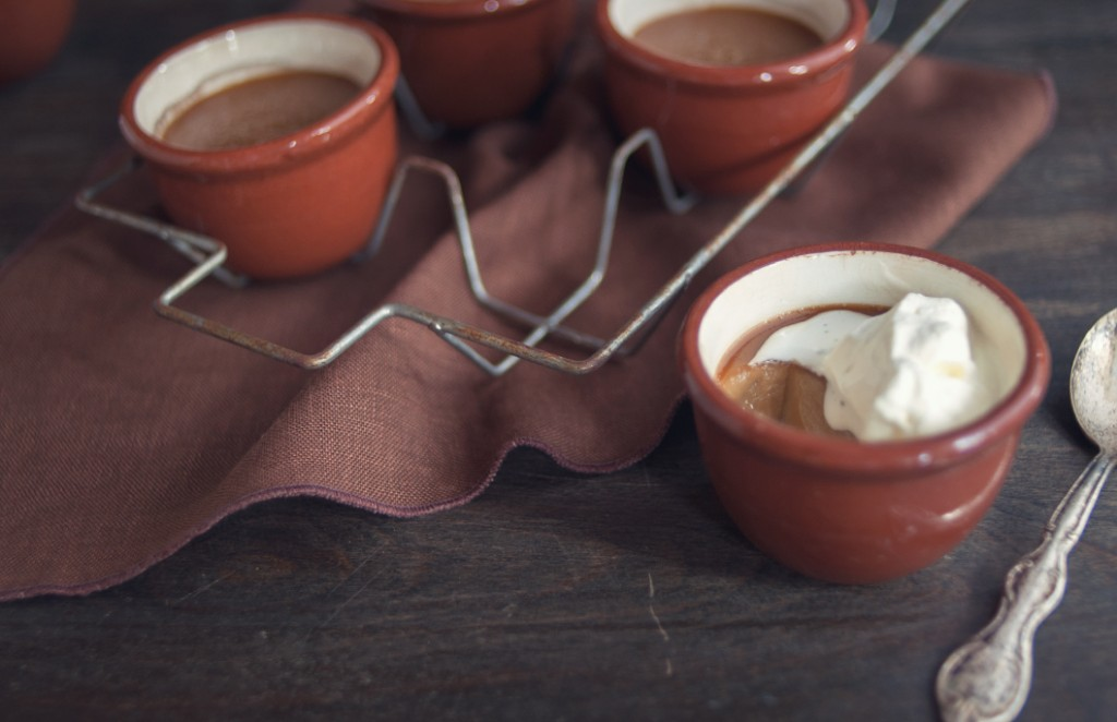 Butterscotch Pots de Creme from Some Kitchen Stories