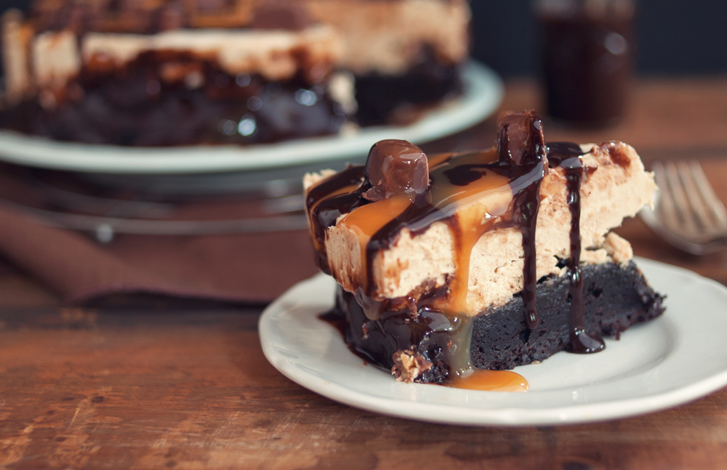 Some Kitchen Stories Snickers Peanut Butter Brownie Ice Cream Cake