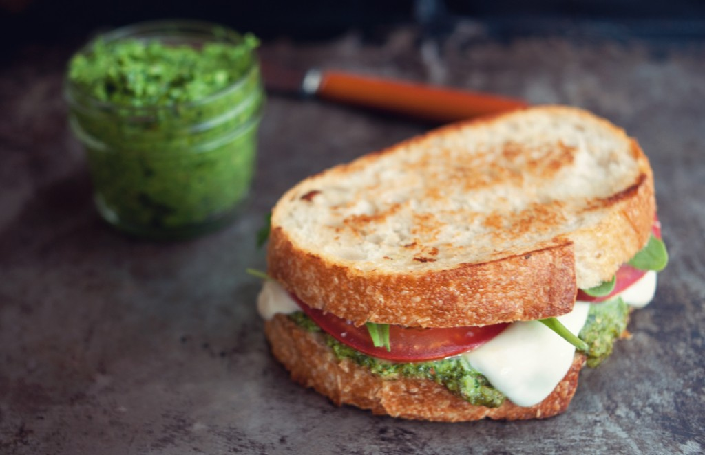 Some Kitchen Stories Caprese Grilled Cheese Sandwich