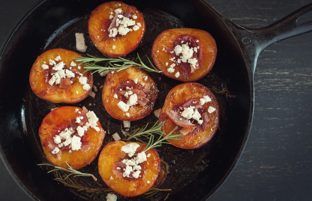 Roasted Peaches in Skillet from Some Kitchen Stories