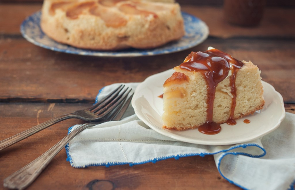 Caramelized Apple Cake with Salty Caramel Sauce from Some Kitchen Stories