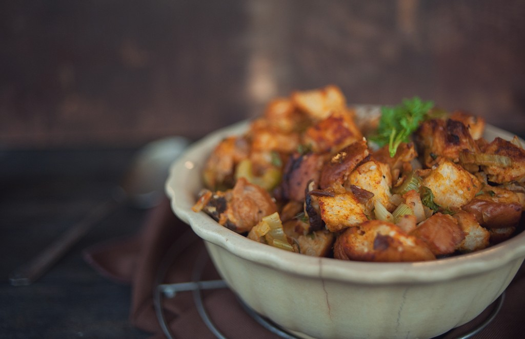 Multicultural Stuffing Recipe from Saveur, Photo by Nicole Ziegler