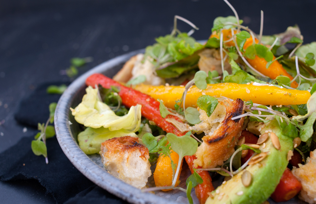 ... Stories Roast Carrot and Avocado Salad with Orange and Lemon Dressing