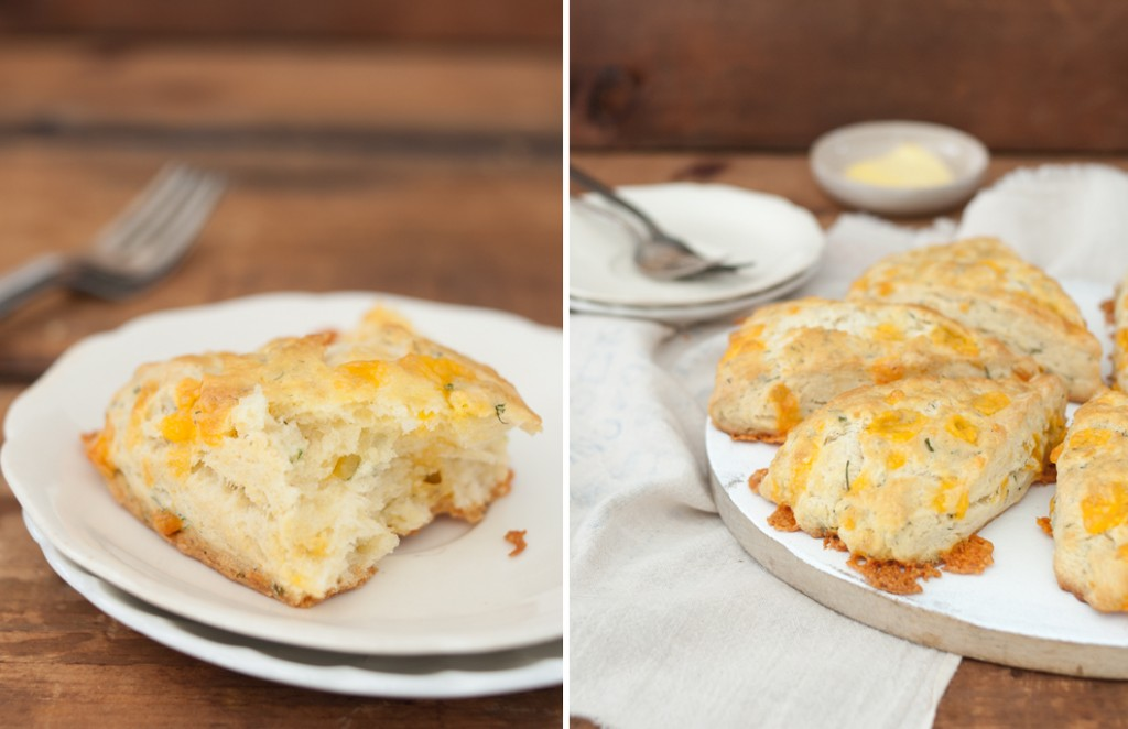 Cheddar Dill Scones // Some Kitchen Stories