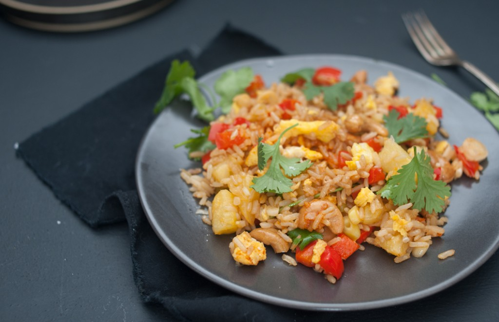Thai Pineapple Fried Rice from Some Kitchen Stories