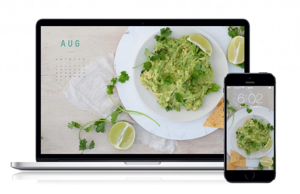 August 2015 Calendar Guacamole